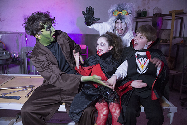 """Free Pic no repro fee  Dr. Frankenfurter and his monster with Anna Coakley  and Eugene O'Reilly from Cobh  pictured at Lord Ghoulsley's Manor, Cuskinny Court in Cobh.  A Halloween spell has transformed the Georgian Manor House & Estate into """"Lord Ghoulsley's Manor"""", an interactive and immersive Halloween experience running from 23rd October until 1st November 2015 from 2pm to 8pm each day.   see https://www.ghoulsleysmanor.com/ Pictures by Gerard McCarthy 087 8537228   more info contact  Renate Murphy 086 8145462"""